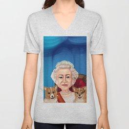 Queen Elizabeth II Unisex V-Neck