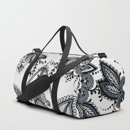 Denim Paisley Duffle Bag