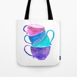 Stacked teacups Tote Bag