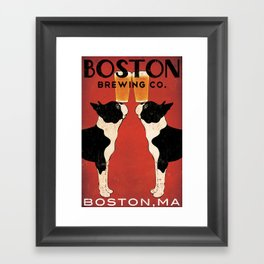 Boston Terrier Brewing Company Framed Art Print