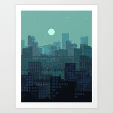 Midnight Blues Art Print