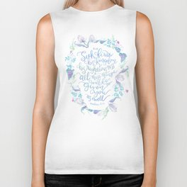Seek First His Kingdom - Matthew 6:33 Biker Tank