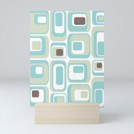 Retro Rectangles Mid Century Modern Geometric Vintage Style Mini Art Print