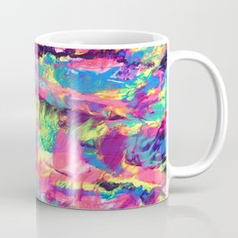 Rainbow Abstract Rorschach Style Painting Coffee Mug