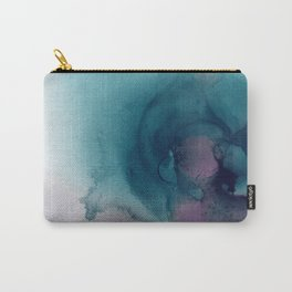 Teal Ultra Violet Vortex Carry-All Pouch