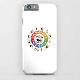 Circle of Fifths Music Theory Wheel Classical Harmony Chords iPhone Case