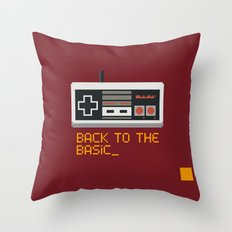 back to the basic_  Throw Pillow
