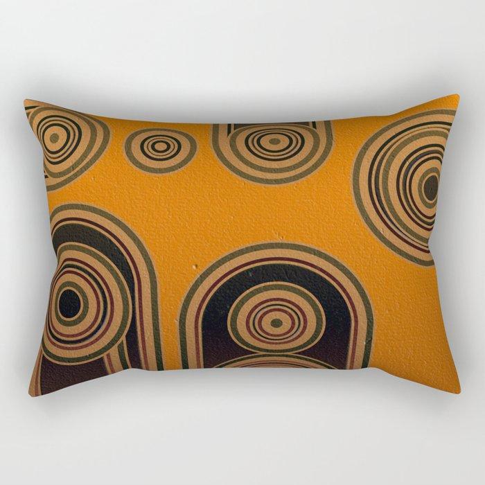 retro shapes Rectangular Pillow