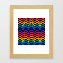 Spectrum Dips Framed Art Print