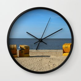 Autumn At The Seaside Wall Clock