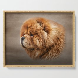 Drawing dog chow chow Serving Tray