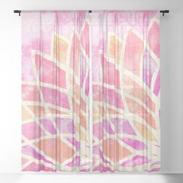 Stained Glass Lotus Sheer Curtain