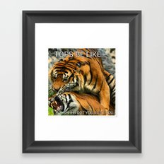 Tongue In Cheek Framed Art Print
