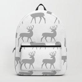 Mid Century Modern Deer Pattern Gray 3 Backpack