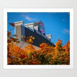 Ohio State Football Stadium View Through Trees Art Print