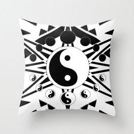 Yin Yang Orbit (2) Throw Pillow