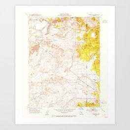 CA Carbondale 288947 1953 24000 geo Art Print