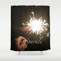 sparkle Shower Curtains featuring Sparkle. by Sammi