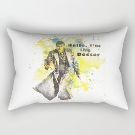 Doctor Who 10th Doctor David Tennant Art Poster Print Rectangular Pillow
