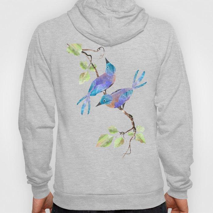 Two Blue Birds Hoody