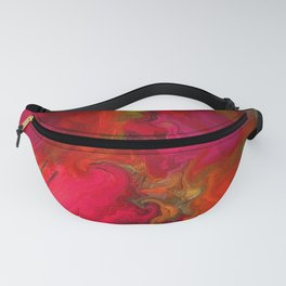 Flower Mirage in Red Fanny Pack