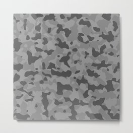 Camouflage Gray Metal Print