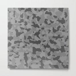 Camouflage Gray Metal Print