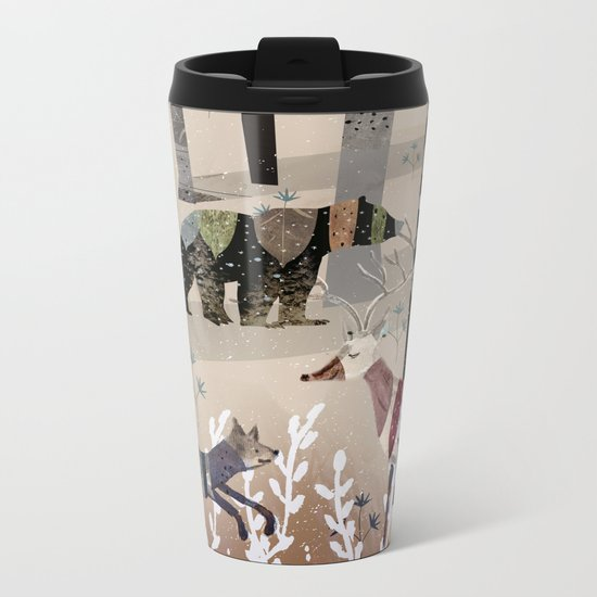 Forest in Sweater Metal Travel Mug