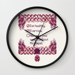 Red Trainer Tips Wall Clock