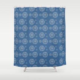 Frost Flower Pattern Shower Curtain