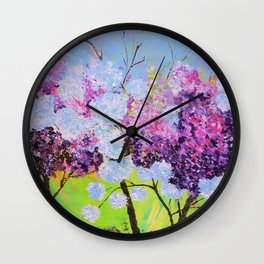lilac painted Wall Clock