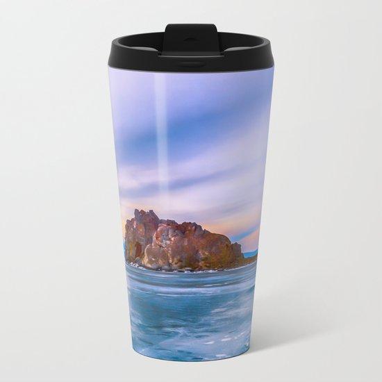 Shaman Rock, lake Baikal Metal Travel Mug