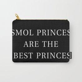 Smol Bookish YA Princes Black Carry-All Pouch