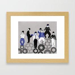 The Chaplins. Framed Art Print