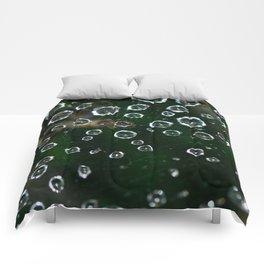 Spiderweb Water Droplets  Comforters
