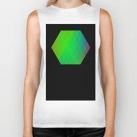 hexagon Biker Tanks featuring Hexagon? by FMC!