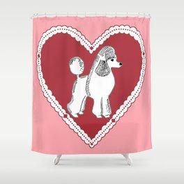 Poodle Love Shower Curtain