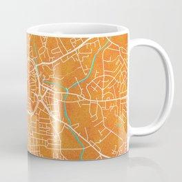 Wolverhampton, England, Gold, Blue, City, Map Coffee Mug