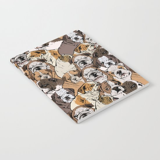 Social English Bulldog Notebook