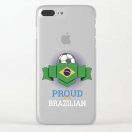 Football Brazilian Brazil Soccer Team Sports Footballer Goalie Rugby Gift Clear iPhone Case