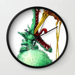 THE WOLF AND STORK Wall Clock