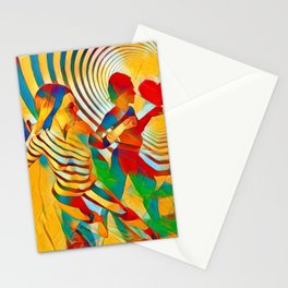 7586s-MM Red Shadow Heart Catch Cherish Set Free Abstract Romantic Love Stationery Cards