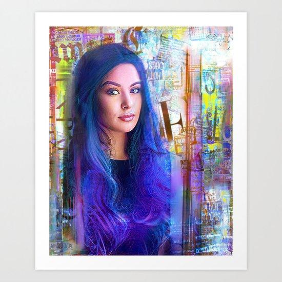 Blue of you  Art Print