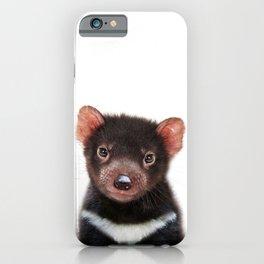 Baby Tasmanian Devil, Baby Animals Art Print By Synplus iPhone Case