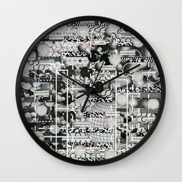 Divergence Toward Chaotic Attractors (P/D3 Glitch Collage Studies) Wall Clock