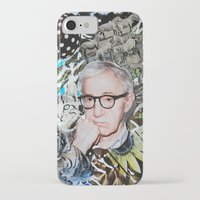 woody allen iPhone & iPod Cases featuring Woody Allen by John Turck
