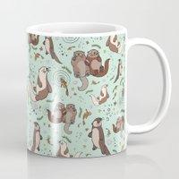 otters Mugs featuring Sea Otters by Nemki