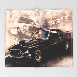 Ford Mustang Boss 557 Throw Blanket