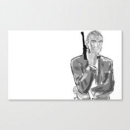 The first secret agent (Connery) Canvas Print