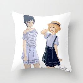 Shimizu Kiyoko & Yachi Hitoka Throw Pillow